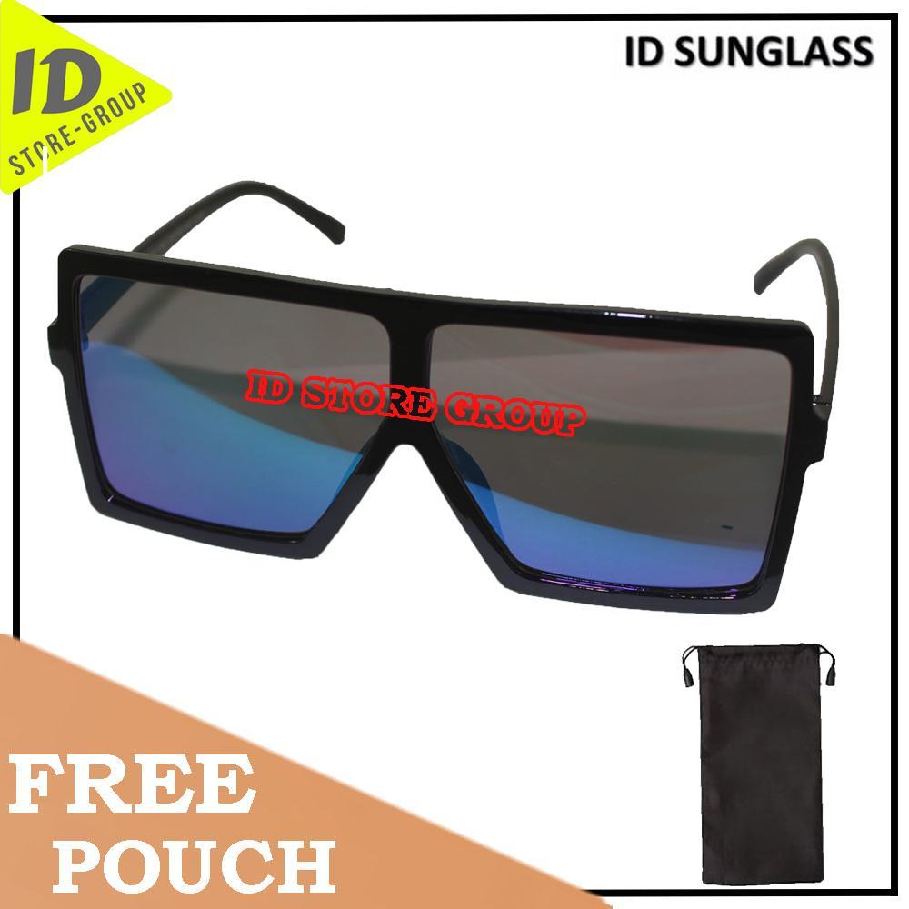 ID Sunglass - Wayfar D-Frame Pria Wanita Frame - Hitam Lensa - Hijau  SUN 1070-07