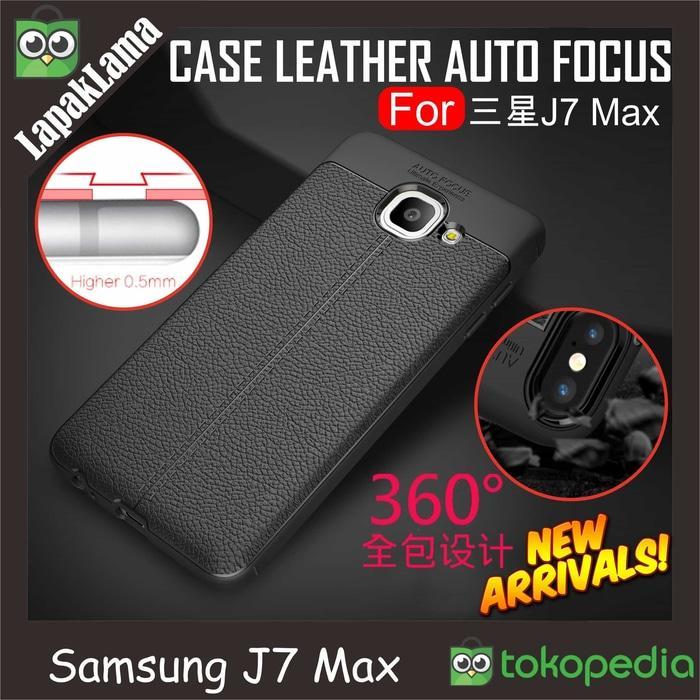 Case Leather Auto Focus Original Samsung Galaxy J7 Max 2017 Softcase