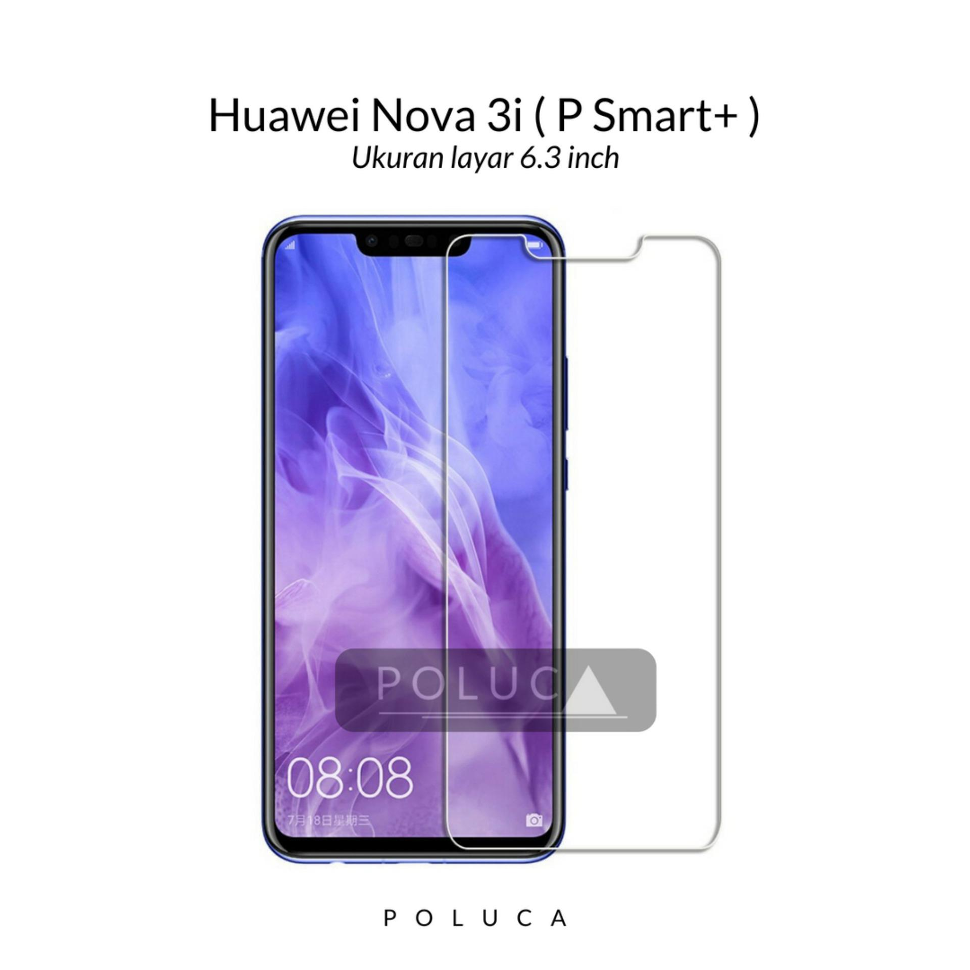Poluca Tempered Glass Screen Protector Anti Gores Kaca Huawei Nova 3i Clear .