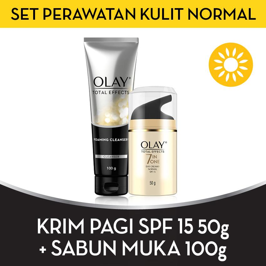 [BEST OFFER] Olay Set Perawatan Kulit Normal SPF15 FREE Foaming Cleanser