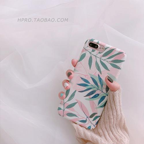 Gaya Korea Casing HP 6 Plus/IPhone7plus Karakter Daun Apple ID Bungkus Penuh