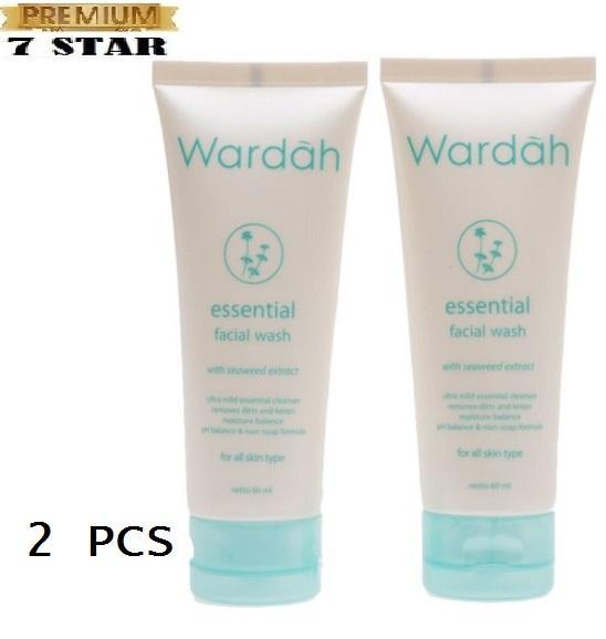 PROMO 2 PCS Wardah Essential Facial Wash Pembersih Wajah 7STAR - Pembersih Wajah Paling Lembut Dan