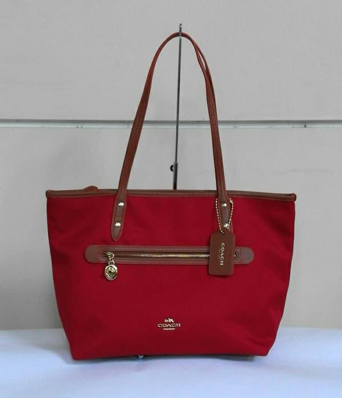 ASLI!!! Coach Sawyer Tote Red - xtXffL