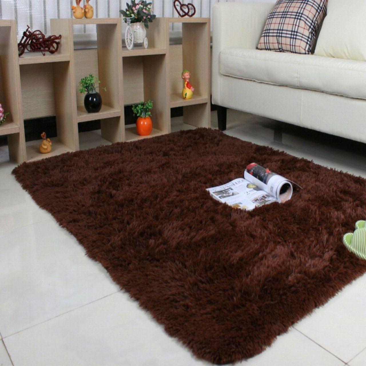 Tikar Karpet Terlengkap Murah Duduk Evamate 120cm X 200cm Bulu Korea 200x120x Tebal 3cm Higt Qualitas Coklat Tua