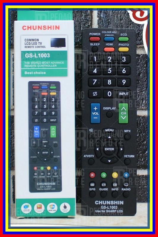 Remot Remote Tv Sharp Aquos Lcd Led Multi Universal Plasma Aquos