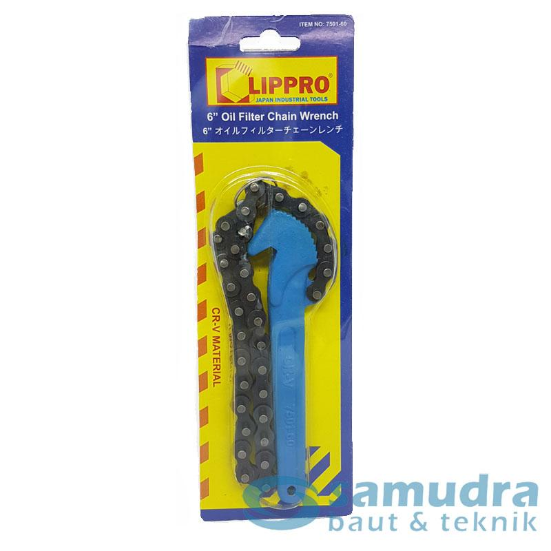 LIPPRO KUNCI FILTER OLI RANTAI 6 INCHI OIL FILTER CHAIN WRENCH 7501-60