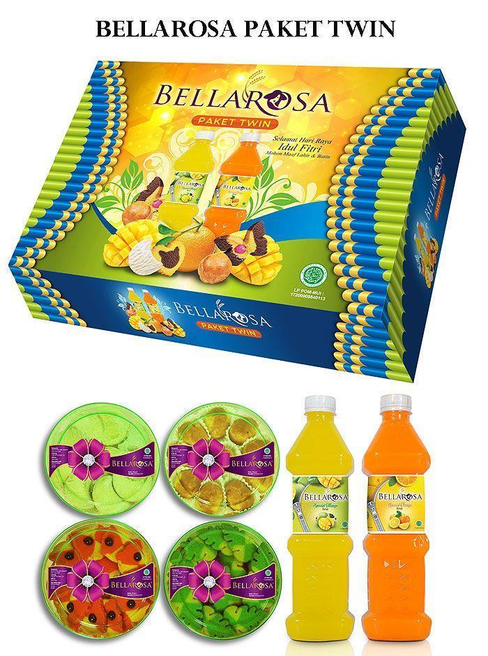 Bellarosa 2018 Paket Platinum Kue Kering Lebaran Idul Fitri 6in1 (Random Color)