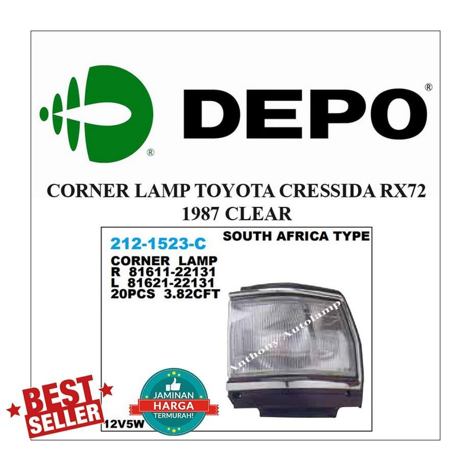 CORNER LAMP TOYOTA CRESSIDA RX72 1987 CLEAR LH