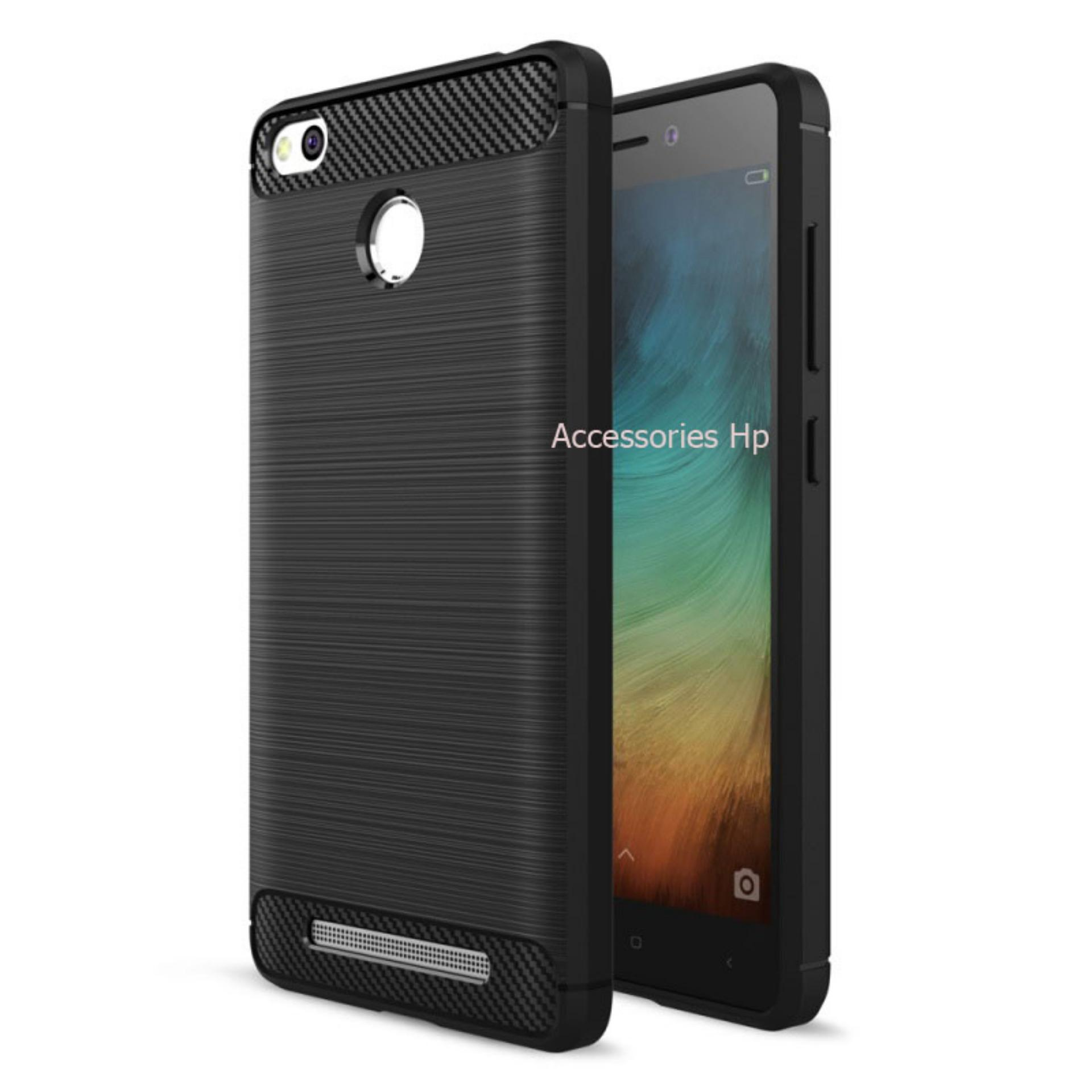Accessories HP Premium Quality Carbon Shockproof Hybrid Case for Xiaomi Redmi 3 Pro / 3s / 3 Prime - Black