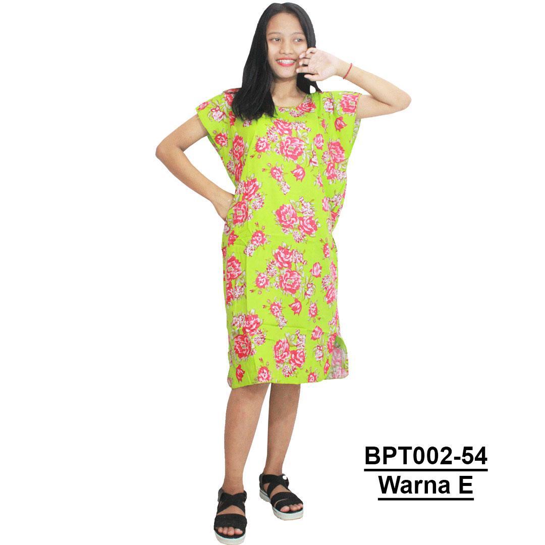 Dress Santai, Midi, Atasan Batik - Motif Bunga - (BPT002-54) Batikalhadi Online