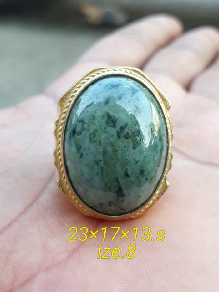 HARGA SPESIAL!!! Cincin Giok Salju Motif Totol Ring Titanium