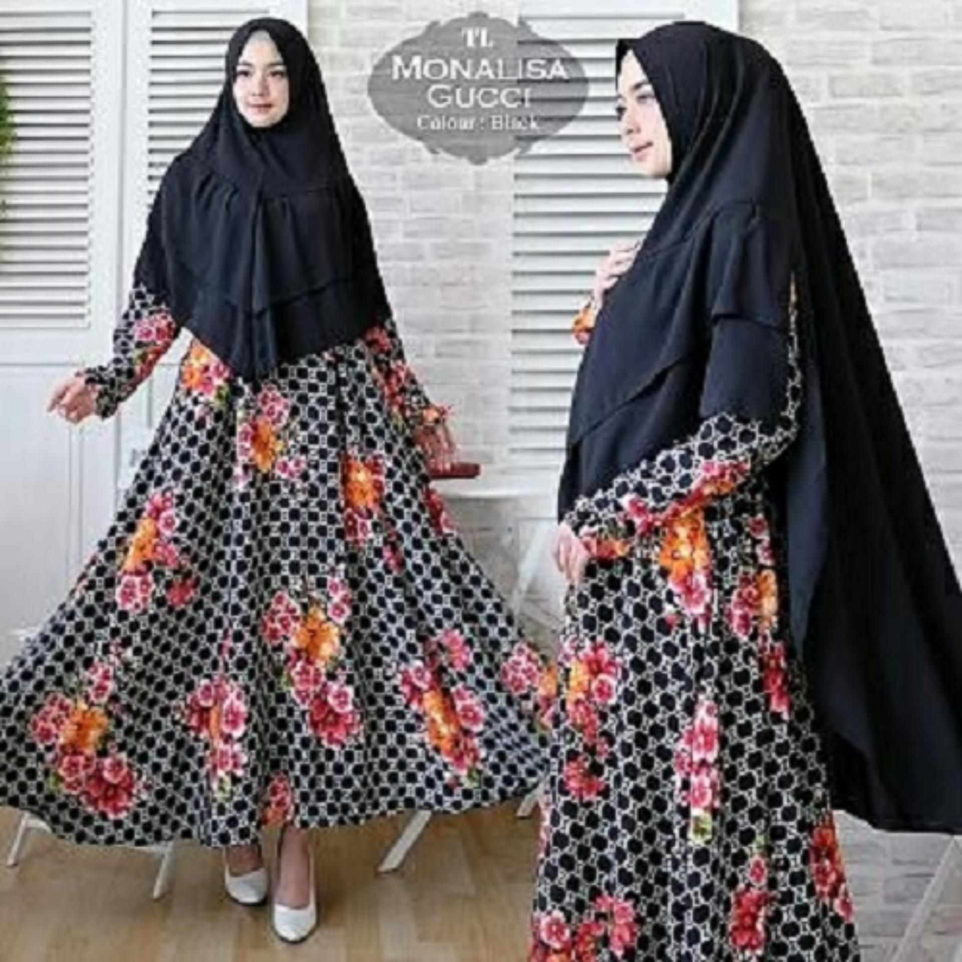 Gamis Wanita Syari - Gamis Muslimah Fashionable - Syari Monalisa Gucci