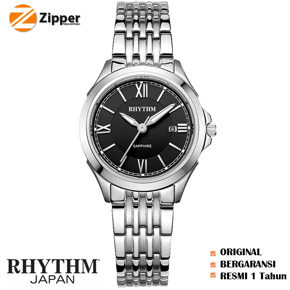 Rhythm Traditional Collection R1204s 05 Jam Tangan Wanita2 Daftar F1505r 04 Wanita Silicon Yelow Tali Rantai Logam Stainless Steel Quartz Shappire Glass P1206s02