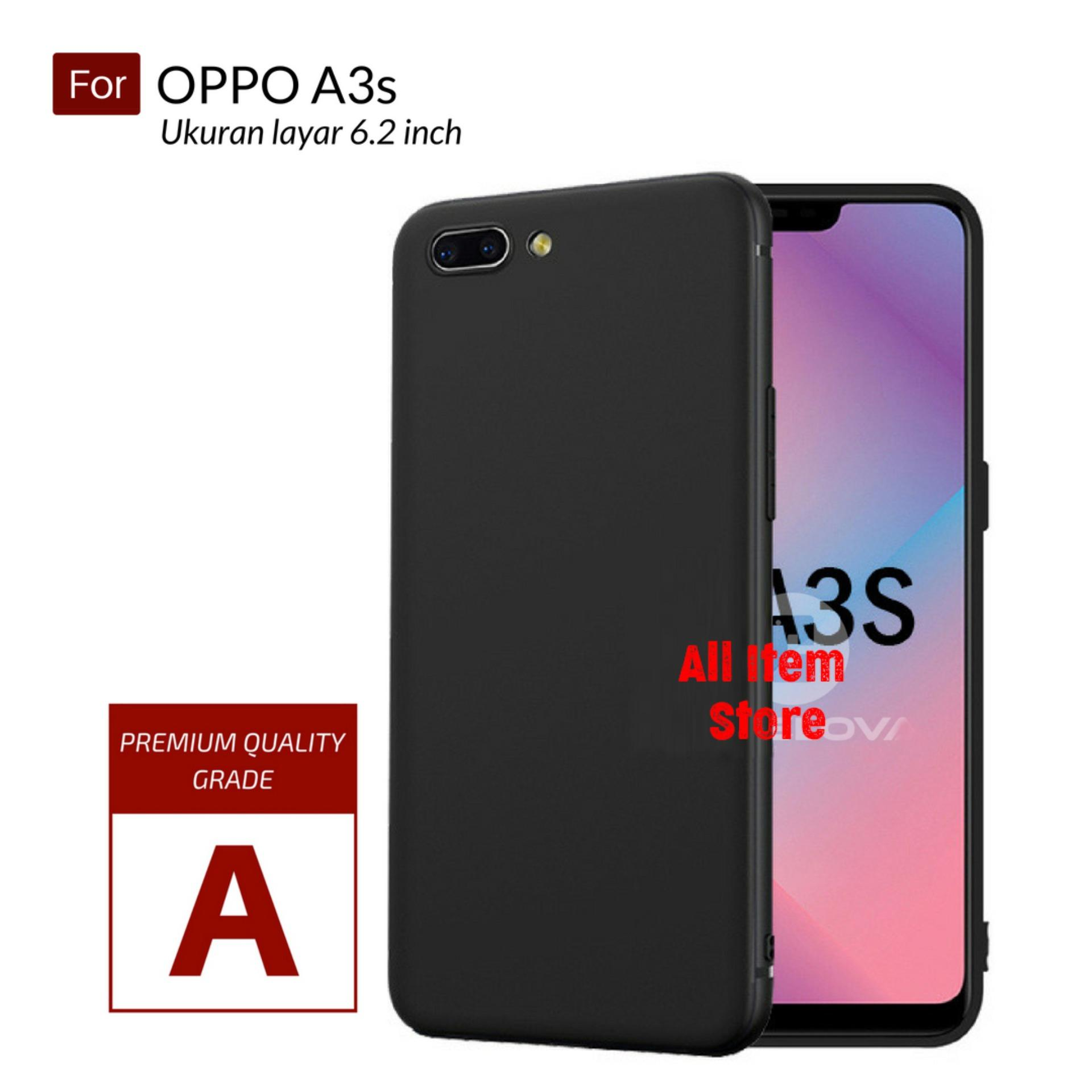 Case Slim Black Oppo A3S Dual Camera Baby Skin Softcase Ultra Thin Jelly Silikon Babyskin - Hitam