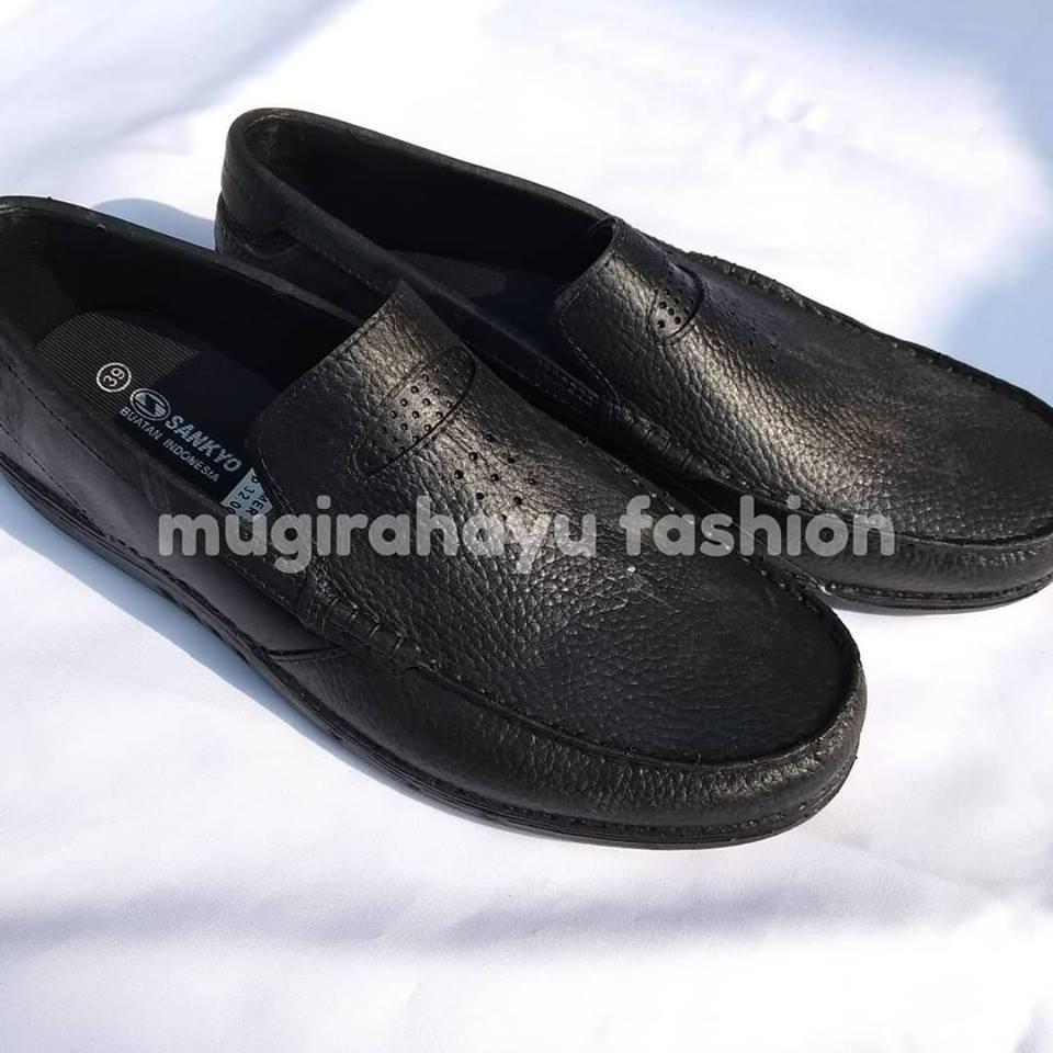 Sepatu Pantofel Karet Kerja Formal Saf 1115 Hitam Daftar Dan Kuliah Sankyo 1120 Slip On Pria Murah
