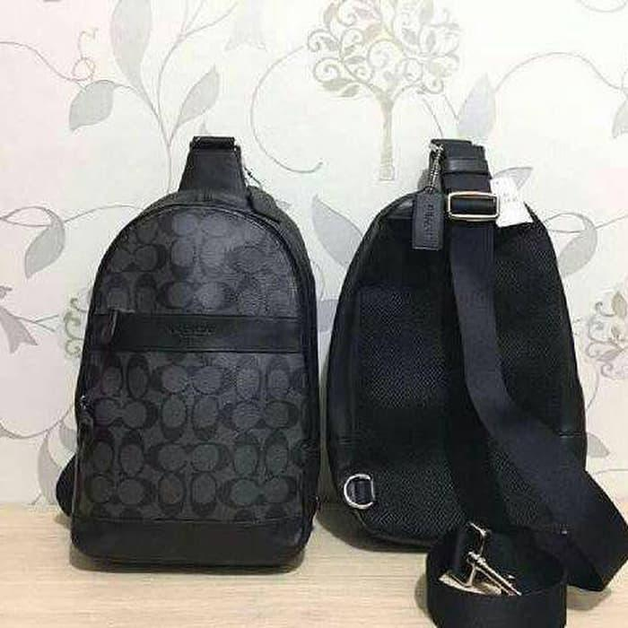 HARGA DISKON!!! Tas Coach Original. Coach Polgan Backpack Signature Black - kLy9DI