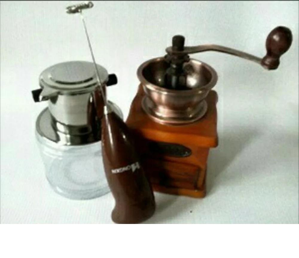 Beli Terlaris Drip Coffee Maker Edelmann Vietnam 120 Ml Set Milk Frother Hand Grinder