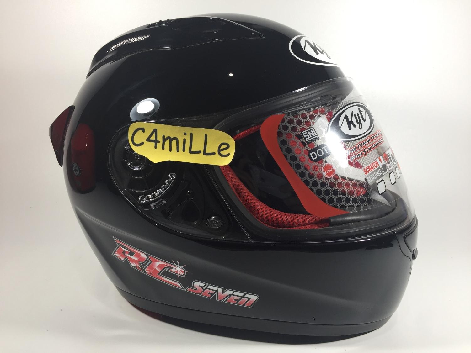 HELM KYT RC7 BLACK FULL FACE RC 7 SIZE L