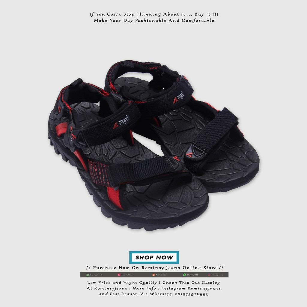 Sandal REI Black Bugs