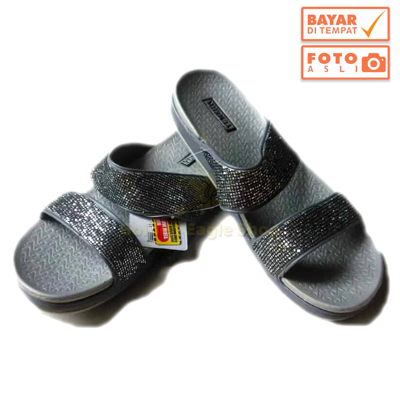 Beli Sepatu Wanita Slip On Casual Eagle Hitam Violet Harga Rp 85000 Premier Jr Badminton Yumeida Sandal Kasual Ld 6092 L Abu Golden