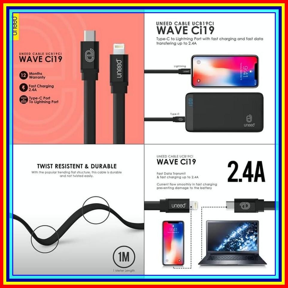 Buy Sell Cheapest Uneed Kabel Data Best Quality Product Deals Bolt Type C Fast Charging 5a Usb 30 Silver Wave To Lightning 1m Ucb19ci Cable Hitam