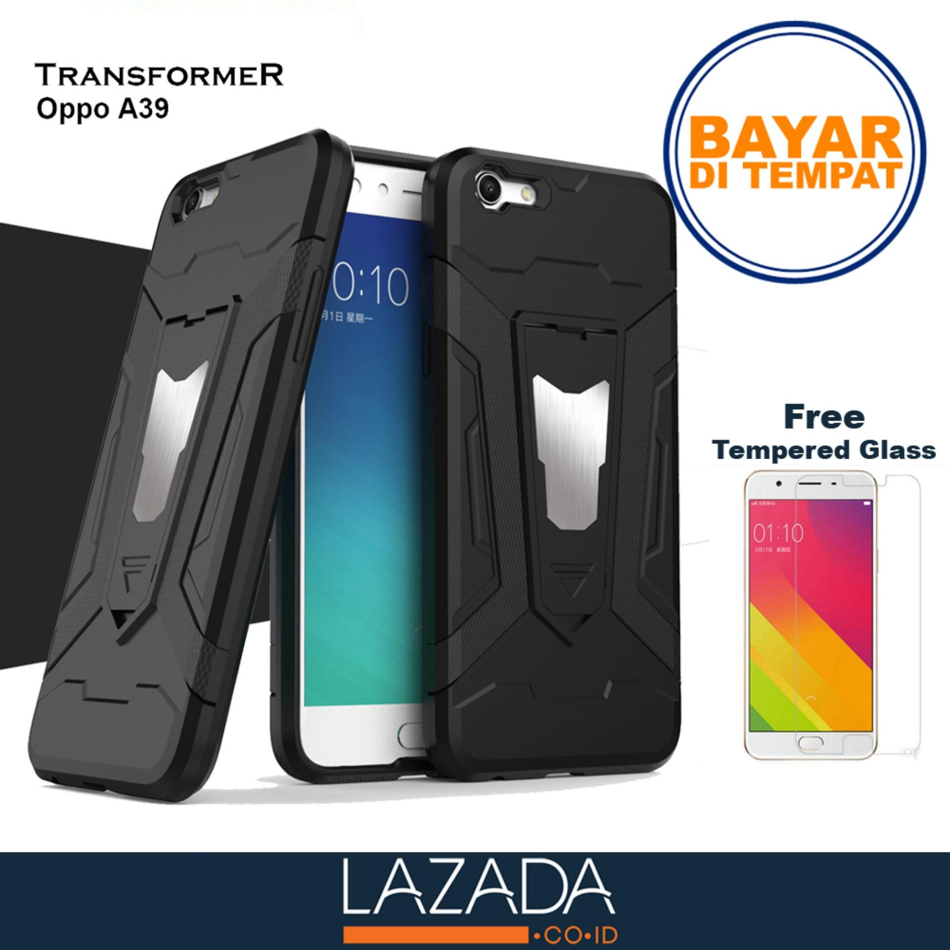 Case Transformer Armor Shockproof With Stand OPPO A39 FREE Tempered Glass