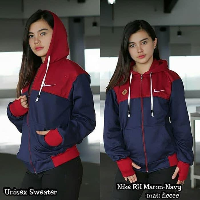 Jaket wanita hoodie nike rh jaket murah