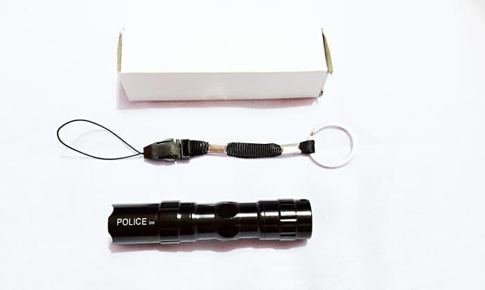 Senter POLICE 3W Mini LED Flashlight Lamp Lampu Emergency Batery AA