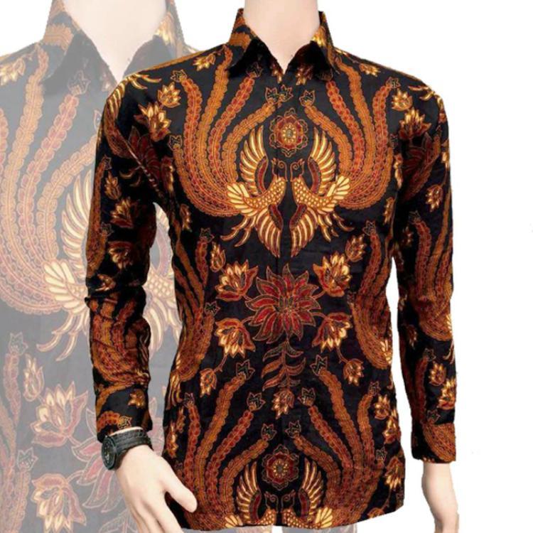 Baju Batik Pria Fashion Kemeja Lengan Panjang Motif Batik Sogan Merak / Batik Modern / Batik Fashion / Toko Batik / Batik / Batik Kerja / Seragam Batik / Kemeja Batik Pria / Batik Sogan / Batik Merak / Batik Pria / Baju Batik Pria / Gambar Batik Merak