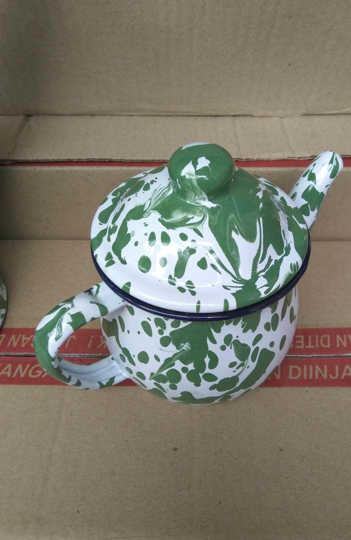 SALE - Teko Blirik Blurik 12cm Cebol Pendek Enamel Seng Jadul Vintage Kuno Import