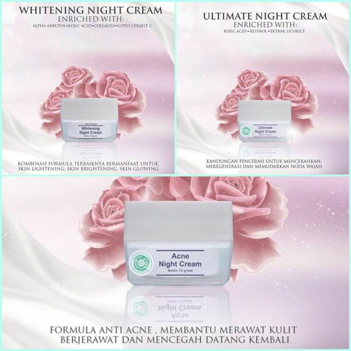 NIGHT CREAM (ACNE, WHITENING, ULTIMATE/FLEK)