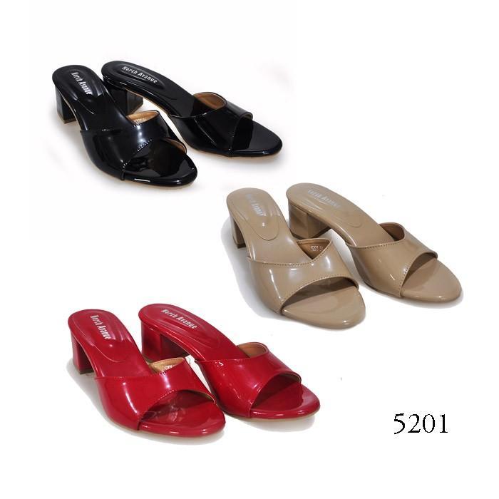 Sandal Wanita Heels 5201 By North Avenue Variasi BLACK 41