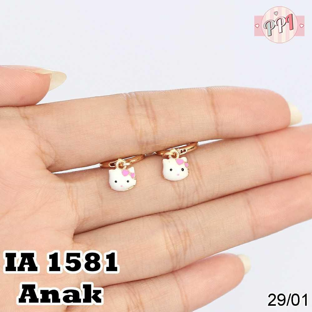 Anting HK Cat Lapis Emas A 1581 Anak