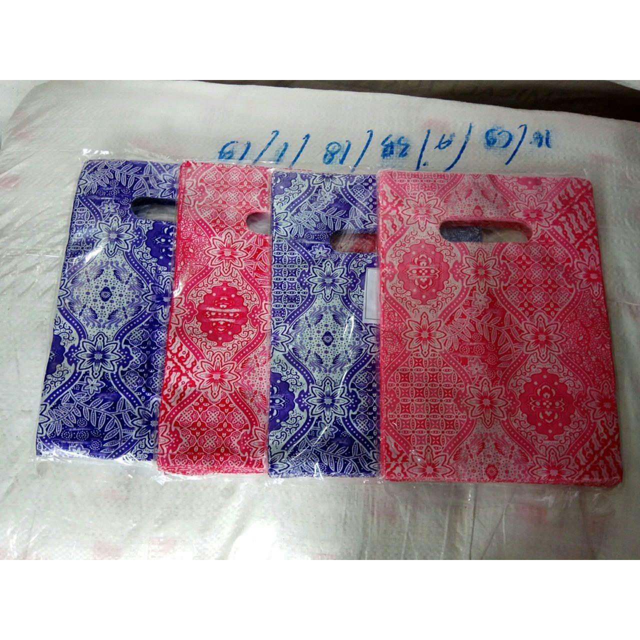 Hd Oval Batik 15x22 - kantong Oval Batik - kantong plastik baju
