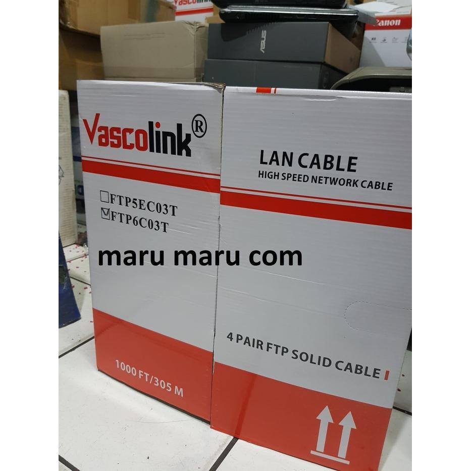 Jual Kabel Ethernet Terbaik Lan 50m Cat 5e Utp 50 Meter Pabrikan Vascolink Ftp 6 305meter 1 Box Utuh