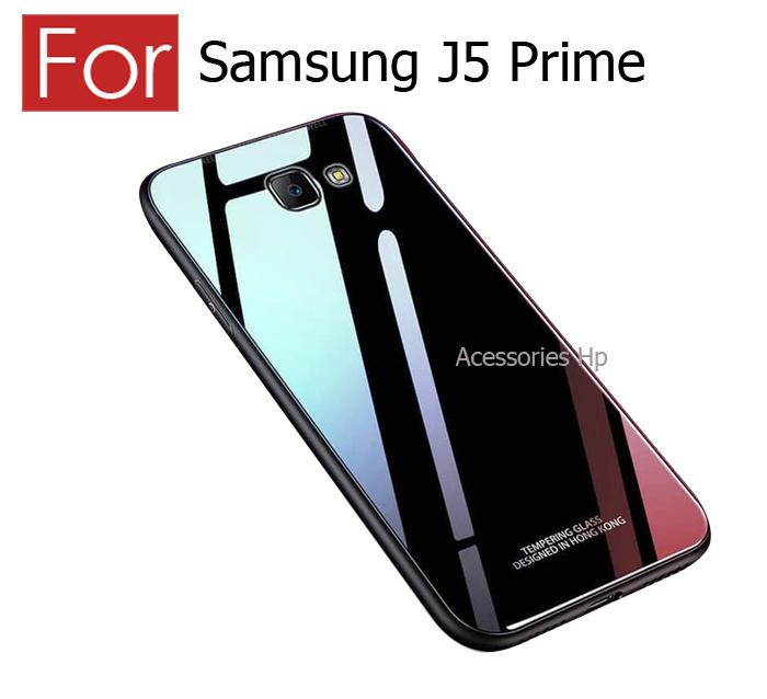 Accessories Hp Case Samsung J5 Prime Luxury Tempered Glass Premium Case