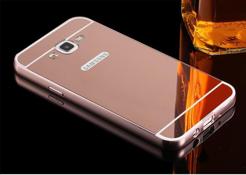 Case Mirror Metal Bumper Sliding Casing for Samsung Galaxy J2