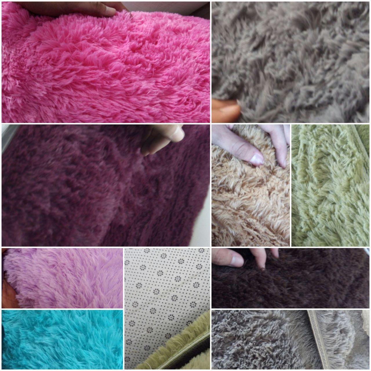 Karpet Bulu Korea 200 x 120 tebal 3cm Kualitas Bagus