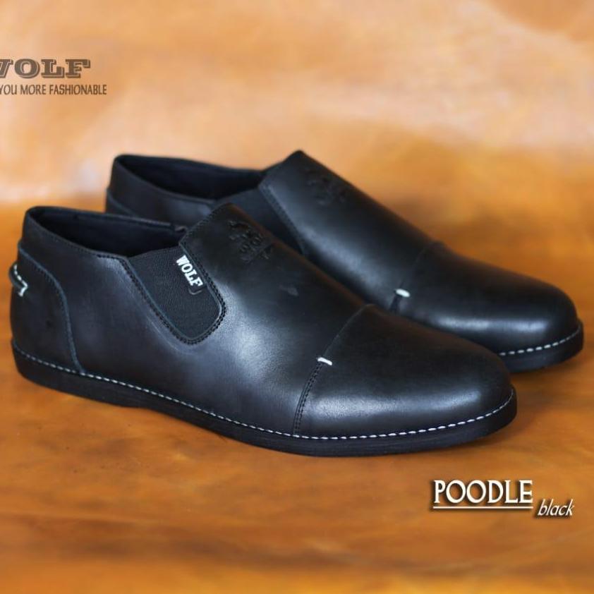 Sepatu Boots SLIP ON WOLF Kulit Asli Safety Original Murah Hitam Tan Coklat  SEPATU PROYEK LAPANGAN 63debbab34