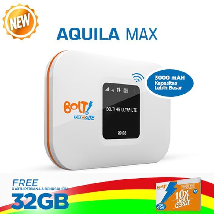 DISKON Bolt Modem Wifi 4G LTE Aquila MAX - Putih Bonus Kuota  32 GB