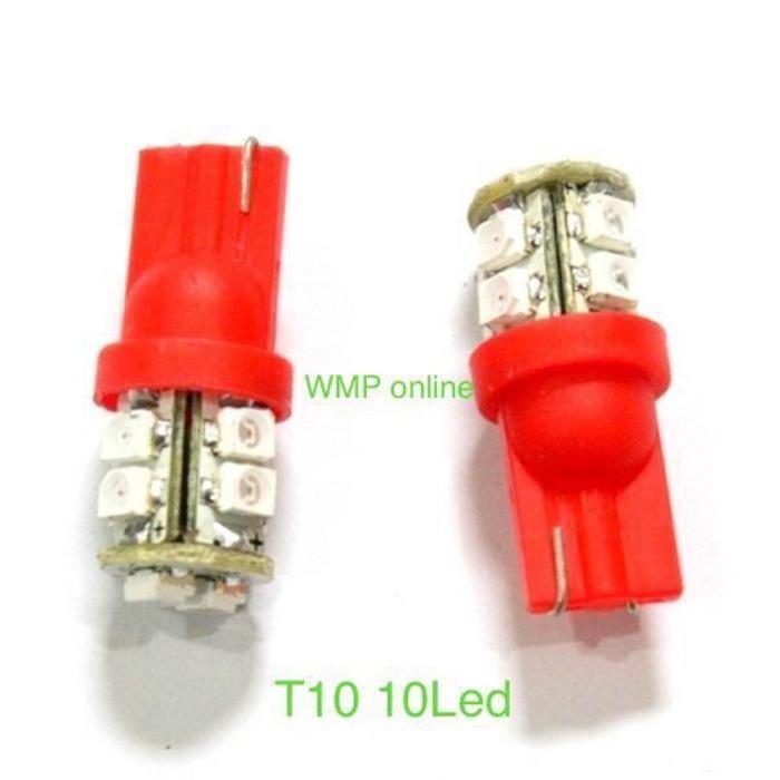 Pencarian Termurah Lampu Sen Sein T10 10Led Diam Warna Merah 1Pc WMP-0444 harga penawaran - Hanya Rp2.548