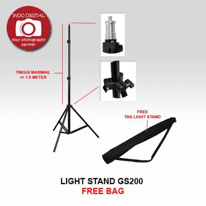 Baru! Light Stand Gs200 (Free Bag) - ready stock