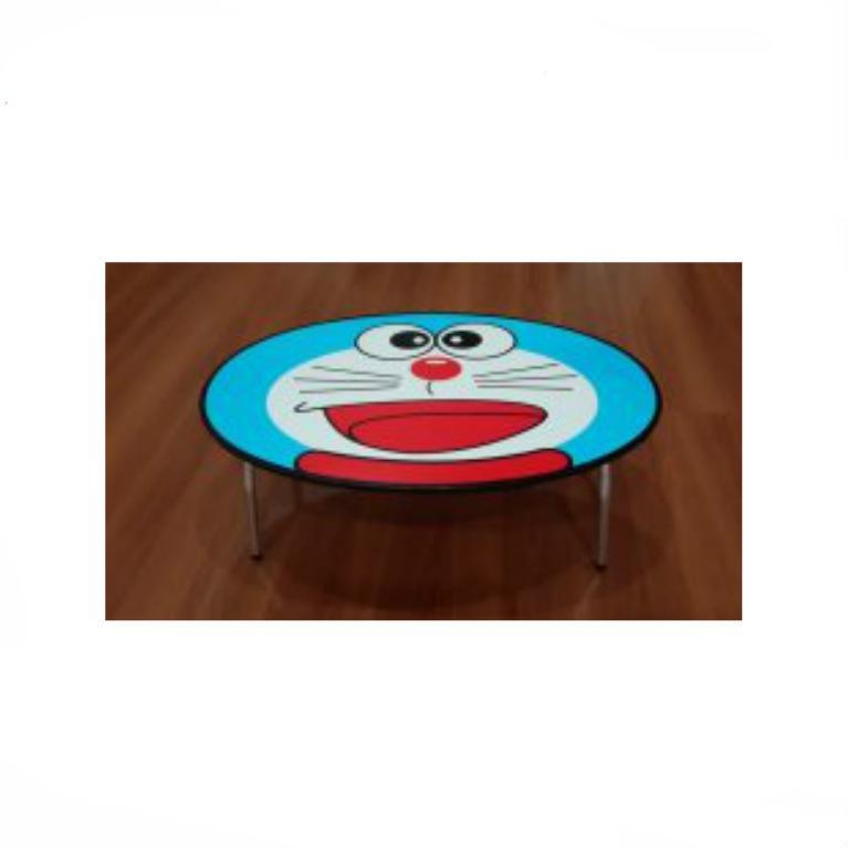 BonBon Meja Lipat Anak Karakter Doraemon Bahan Multiplex 9mm
