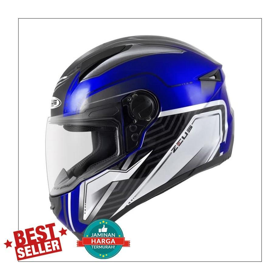 Buy Sell Cheapest Helm Zeus Z811 Best Quality Product Deals 811 White Black Green Al3 Fullface M L Xl Al16 Yamaha Blue Silver