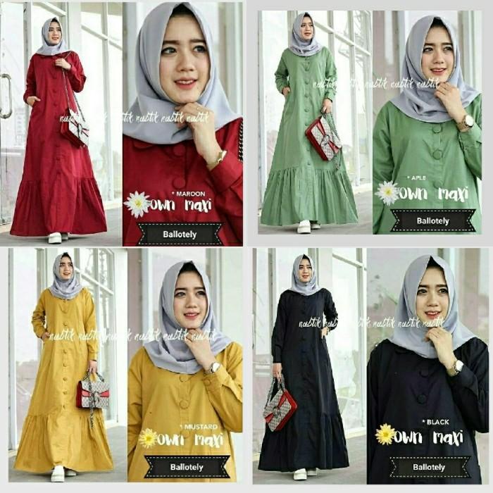 Cuci Gudang !!!    Baju Muslim Gamis Remaja Maxi Own Dress Trendy Baloteli Bagus Murah GL
