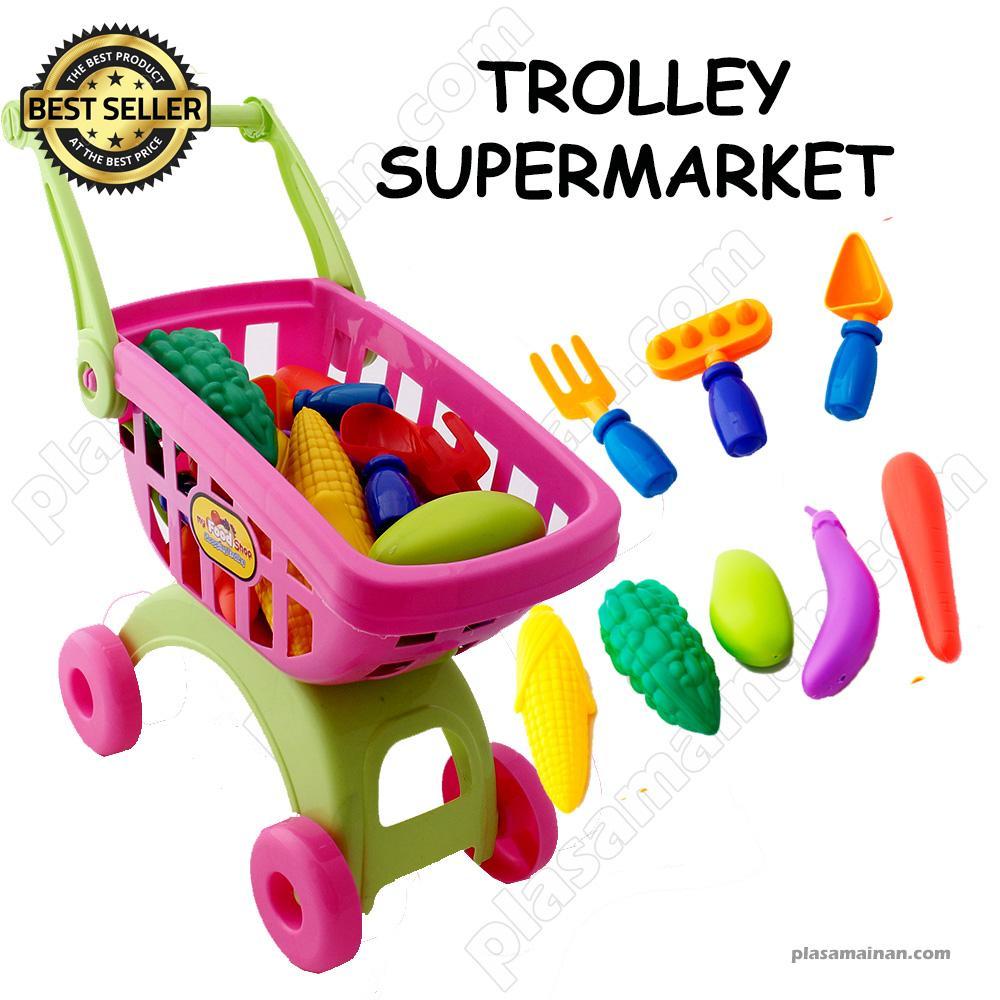 AA Toys Mainan Keranjang Belanja - Mainan Trolly Supermarket