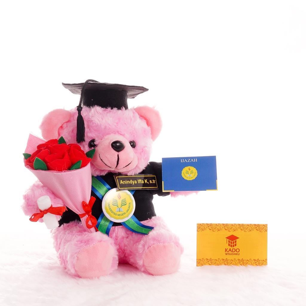 Boneka Wisuda Teddy Bear dan Buket Bunga 7007072ccd