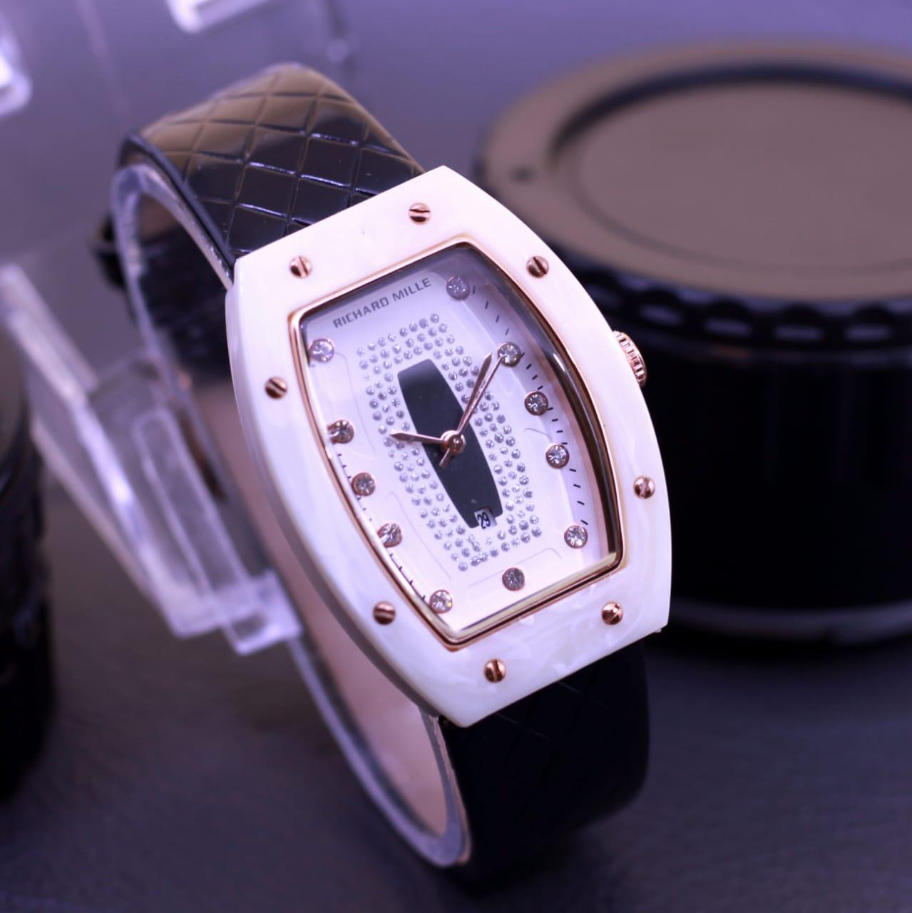 Jam tangan Richard Mille KW Talu kulit jam tangan wanita lengkap dengan box