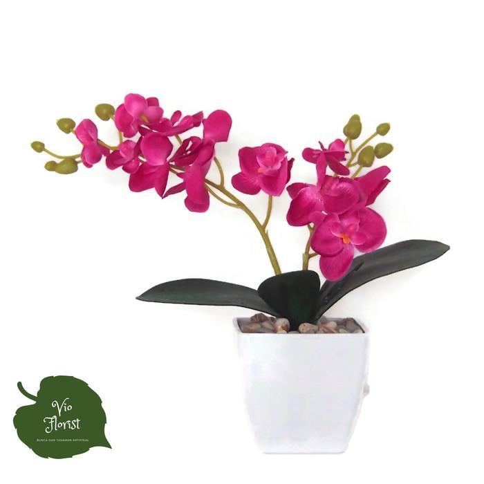 Bunga Anggrek Artifisial Vas Rotan Hiasan Meja - Smart4K Design Ideas 431ecb72bc