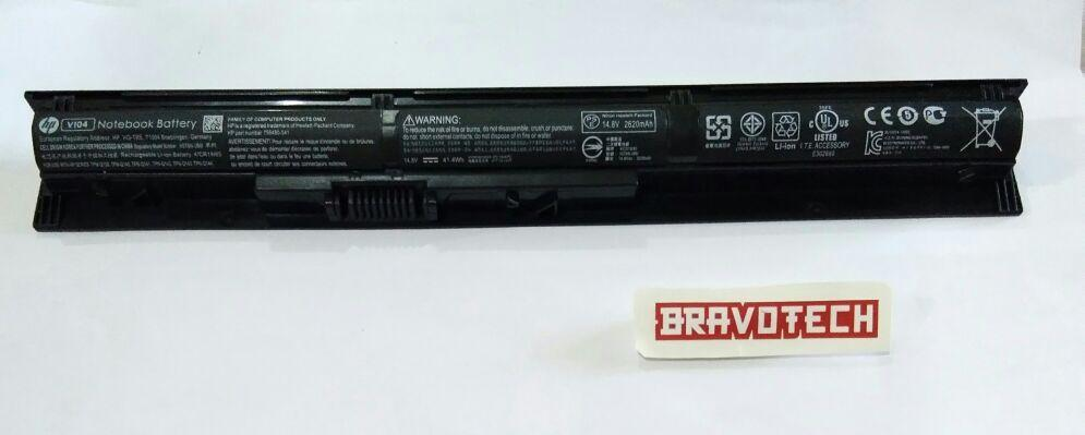 HP BATTERY LAPTOP VI04 4-cell 41Whr Battery for HP Pavilion 15-P, 15-X, 17-F, 17-X; Envy 14-V, 14-U, 15-K, 15-X, 17-X, Probook 440 G2, Probook 445 G2, Probook 450 G2, Probook 455 G2 756745-001 G6E88AA
